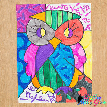 first week of school romero britto owls art history game art sub