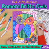 First Week of School: Romero Britto Owls Art History Game and Art Sub Plan Ideas