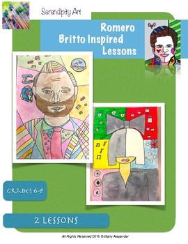Romero Britto Portraits