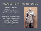 Rome's First Triumvirate PPT and Worksheet