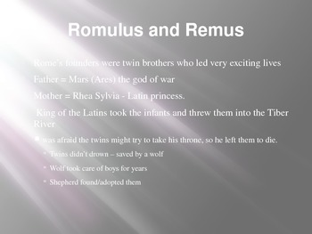 Rome's Origins - Romulus and Remus