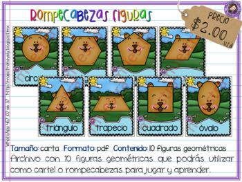 Rompecabezas - cartel de figuras geométricas