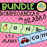 BUNDLE -  Rompecabezas de 2 & 3 Silabas