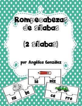 Rompecabezas de 2 sílabas (SPANISH 2-syllable puzzles)
