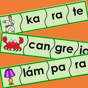 Silabas - Rompecabezas de 3 silabas