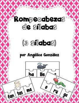 Rompecabezas de 3 sílabas (SPANISH 3 syllable puzzles)
