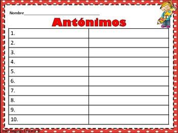 Rompecabezas de Antonimos