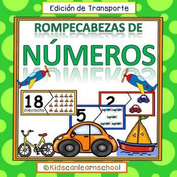 Rompecabezas de Numeros 0-20- Transporte