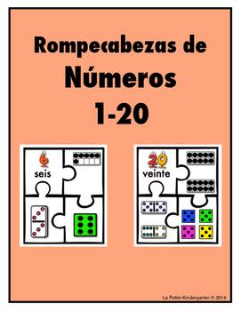 Rompecabezas de Números  1-20