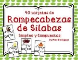 Rompecabezas de Silabas - Dual Language - Spanish
