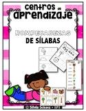 Centros de aprendizaje de sílabas - Rompecabezas de sílabas