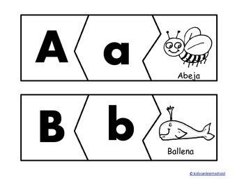 Rompecabezas de las letras en español.