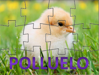 Spanish: Rompecabezas de los Animales de Pascua (Set of Six)