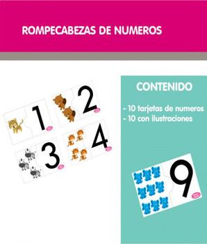 Rompecabezas de números del 1 al 10