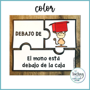 Rompecabezas de preposiciones - Prepositions Puzzle in Spanish