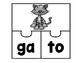 Rompecabezas de sílabas: Animales (SPANISH)