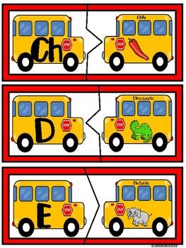 Rompecabezas del Abecedario- Autobus Escolar