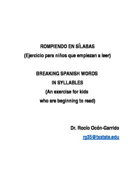 Rompiendo en silabas