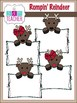 Rompin'' Reindeer Clip Art / Digital Graphics Set