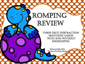 Romping Review of 3 Digit Subtraction With and Without Regrouping