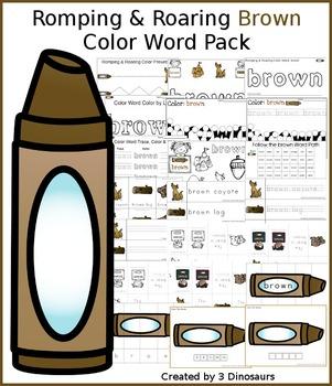 Romping & Roaring Color Brown Pack