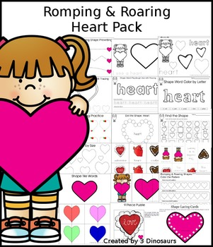 Romping & Roaring Heart Pack