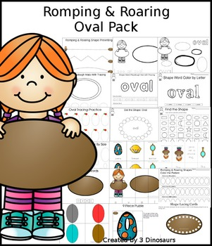 Romping & Roaring Oval Pack