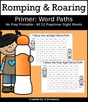 Romping & Roaring Primer Sight Words: Word Paths