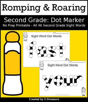 Romping & Roaring Second Grade Sight Words: Dot Marker