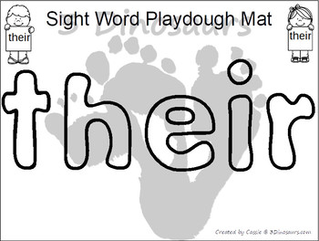 Romping & Roaring Second Grade Sight Words: Playdough Mats