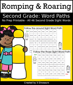 Romping & Roaring Second Grade Sight Words: Word Paths