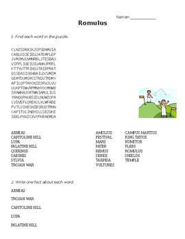 Romulus Word Search