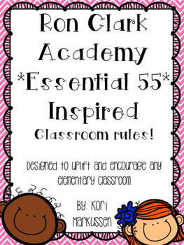 Ron Clark Academy Essential 55 inspired *Be Significant* rules 6
