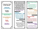 Character Counts brochure based on Ron Clark's house system