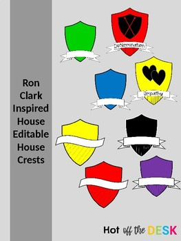 Ron Clark Inspired Editable House Crests