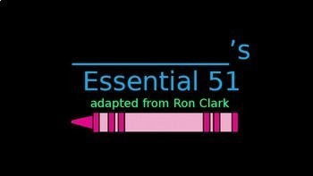 Ron Clark Inspired Essential 55 PowerPoint Presentation and Student Contract