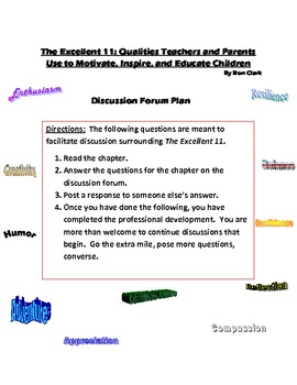 Ron Clark The Excellent 11 Discussion Forum Questions
