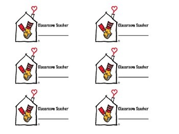 Ronald McDonald House Pop Tab Collection Contest