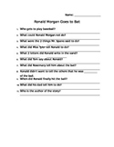Ronald Morgan Goes to Bat Comprehension Sheet