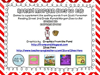 Ronald Morgan Goes to Bat Spelling and Vocabulary Games