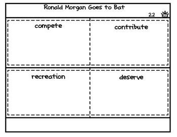 Ronald Morgan Goes to Bat vocabulary flap book