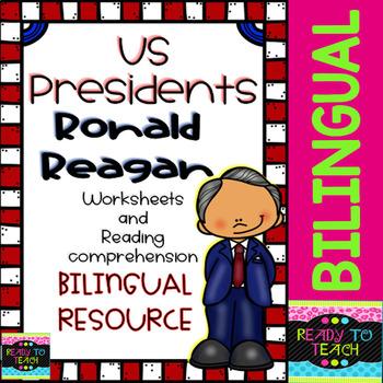 Ronald Reagan - American Presidents - Worksheets and Readings - Bilingual