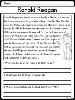 Ronald Reagan Biography Pack