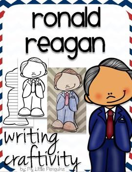 "Ronald Reagan ""Craftivity"" Writing page (President)"