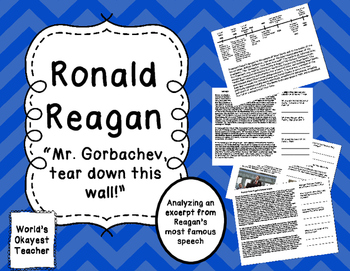 """Ronald Reagan: Excerpt from """"Tear Down This Wall"""" Speech"""
