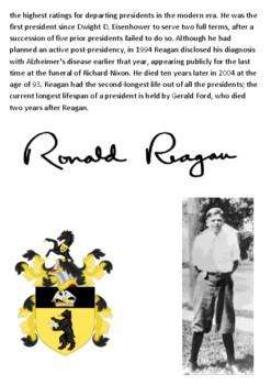 Ronald Reagan Handout