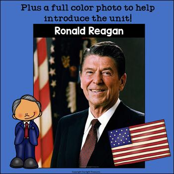 Ronald Reagan Mini Book for Early Readers: Presidents' Day