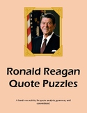 Ronald Reagan Quote Puzzles