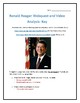 Ronald Reagan- Webquest and Video Analysis with Key