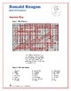 Ronald Reagan - U.S. Presidents Word Search and Fill in the Blanks